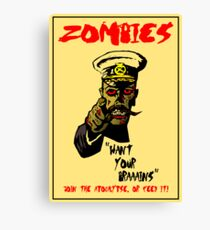 Zombie Recruitment Poster Canvas Print