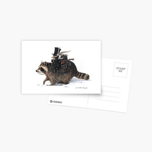 The Clurichaun and the Racoon Postcard