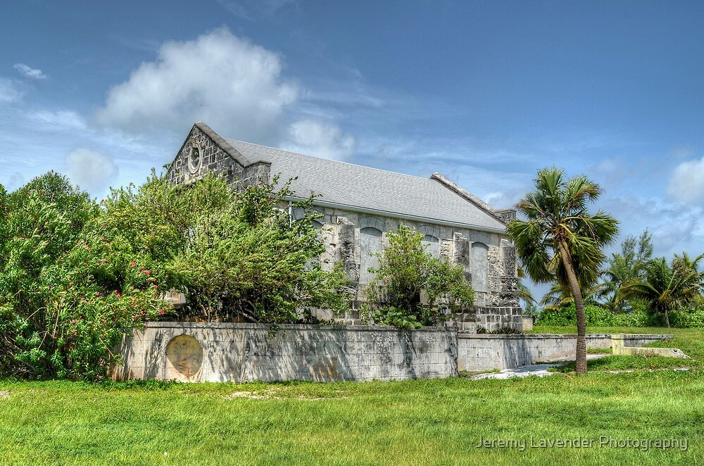 Abandoned Church on Paradise Island in The Bahamas by Jeremy Lavender Photography