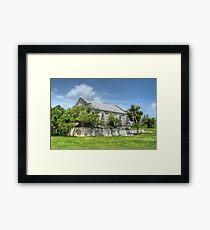 Abandoned Church on Paradise Island in The Bahamas Framed Print