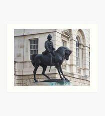 Cavalryman Statue Art Print