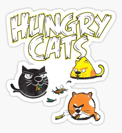 Hungry Cats Sticker