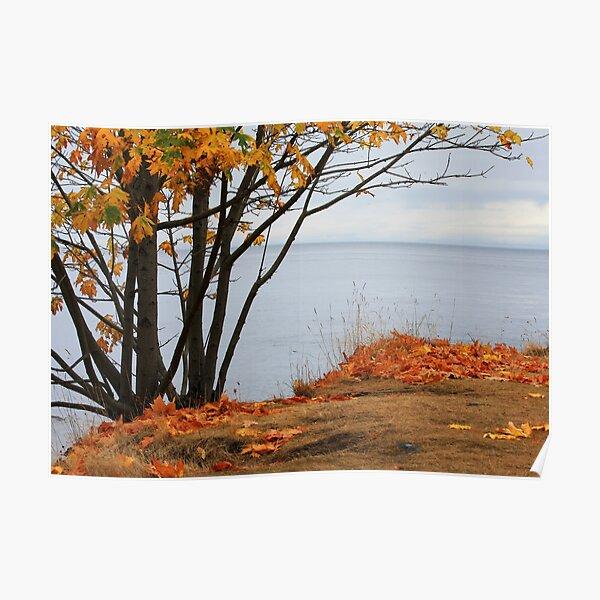 Autumn sliced with a tear Poster