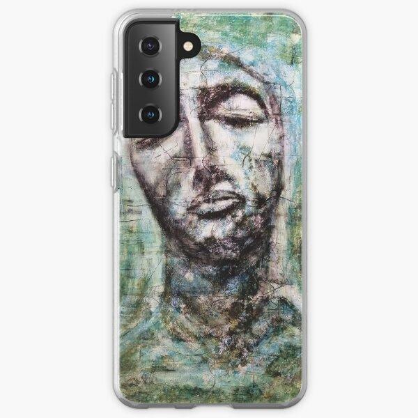 Breathe! Original Artwork Inspirational Portrait. Samsung Galaxy Soft Case