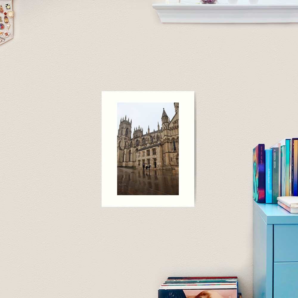 York Minster in the rain Art Print