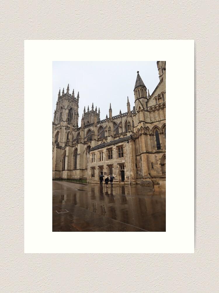 Alternate view of York Minster in the rain Art Print