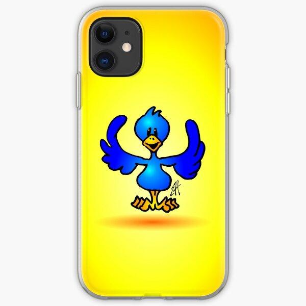 Blue twitter bird iPhone Soft Case