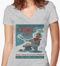 Cosmic Knife Women's Fitted V-Neck T-Shirt