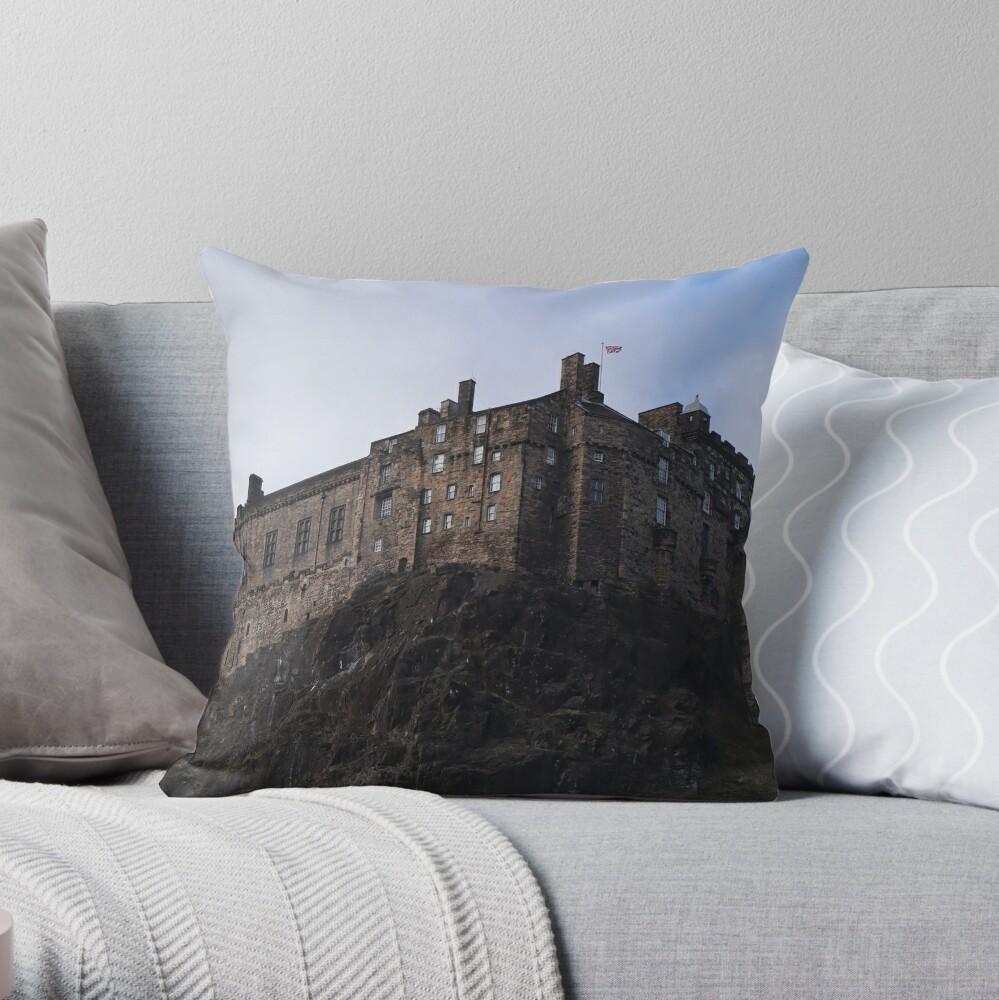 Edinburgh Castle from the Grassmarket Throw Pillow