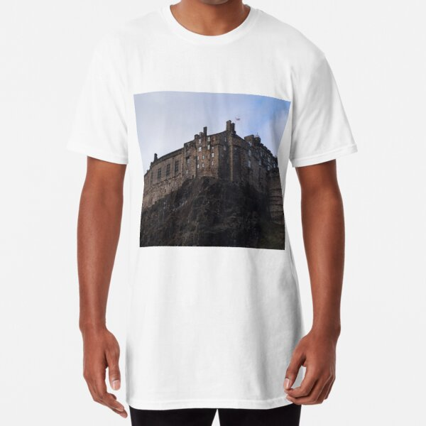 Edinburgh Castle from the Grassmarket Long T-Shirt