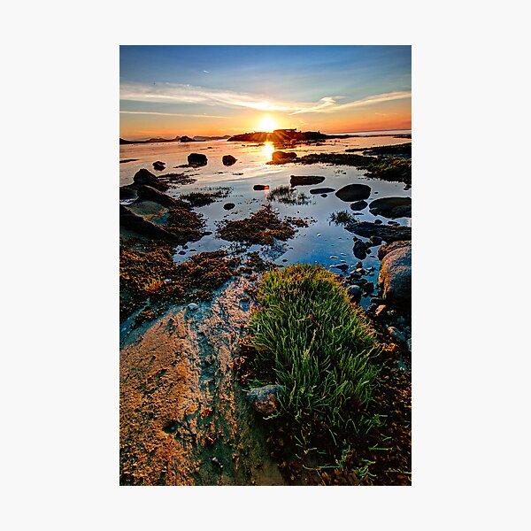 Cabbage Island Panorama at Sunset Photographic Print
