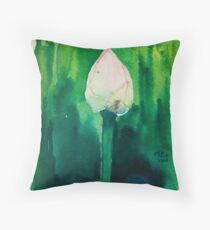 New Born Lotus Throw Pillow