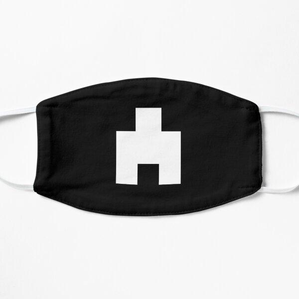 Ahorcado (estilo espejo negro) - blanco Mascarilla plana