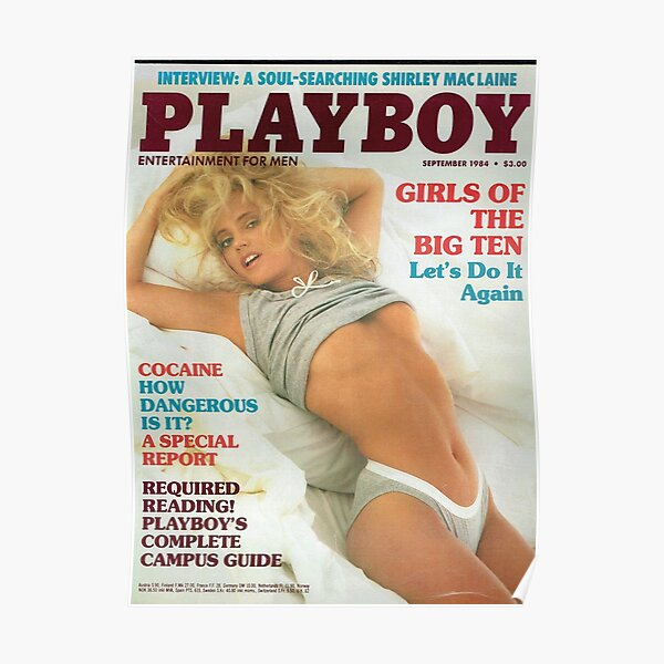 Playboy Vintage Cover September 1984 Poster
