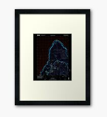 USGS TOPO Map Guam Ritidian Point 462403 2000 24000 Inverted Framed Print