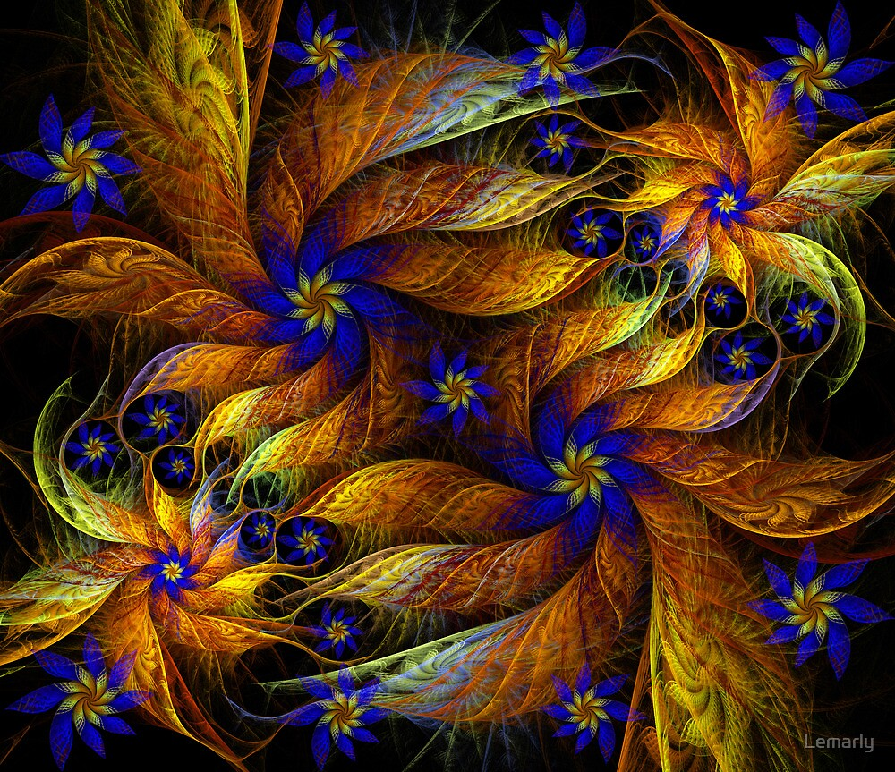 Dance of BlueFlowers by Lemarly