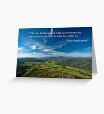 WHAT LIES WITHIN US Greeting Card