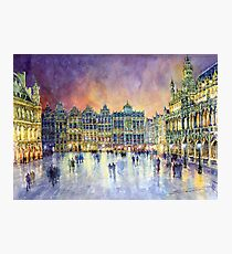 Belgium Brussel Grand Place Grote Markt Photographic Print