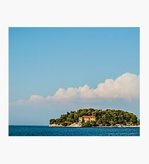 Blue skies over the sea Photographic Print