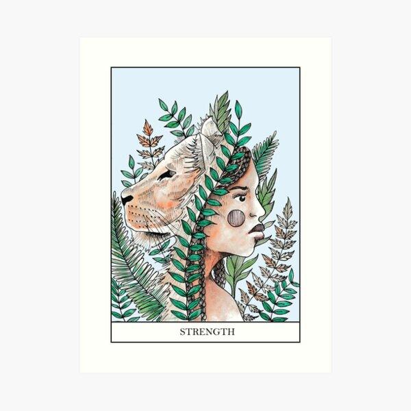 Strength Tarot Card Print  Art Print
