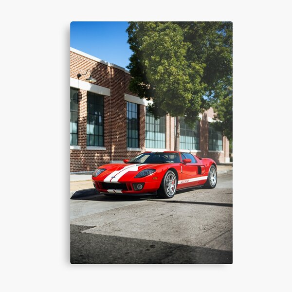 Red and White: Ford GT Metal Print