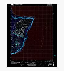 USGS TOPO Map Guam Pati Point 462407 2000 24000 Inverted Photographic Print