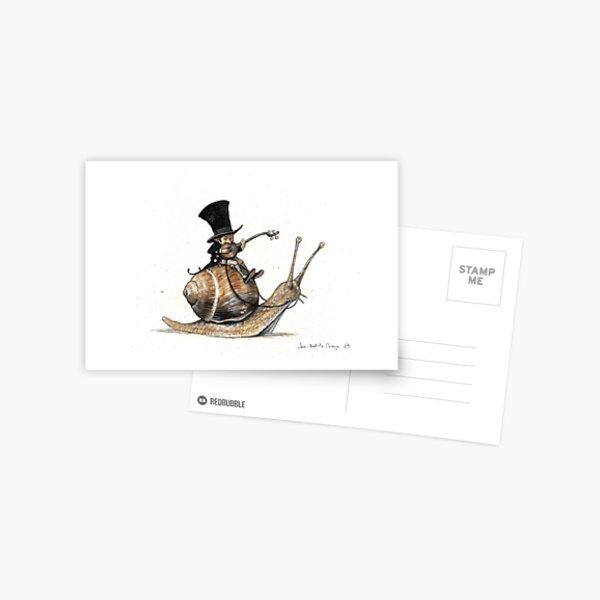 The Tiny Mini-Minstrel Postcard