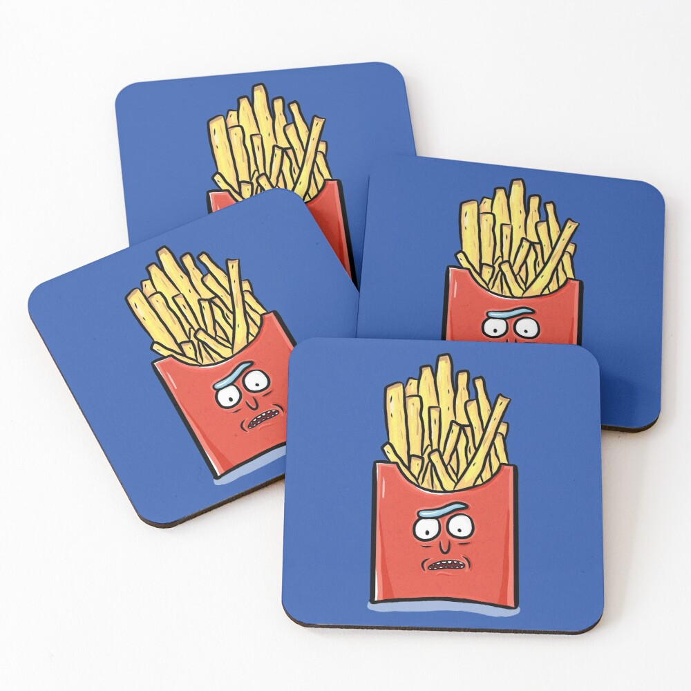 French Fries Rick Sanchez - Rick and Morty Coasters (Set of 4)