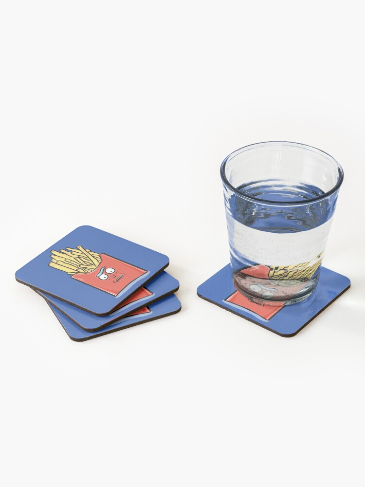 Alternate view of French Fries Rick Sanchez - Rick and Morty Coasters (Set of 4)