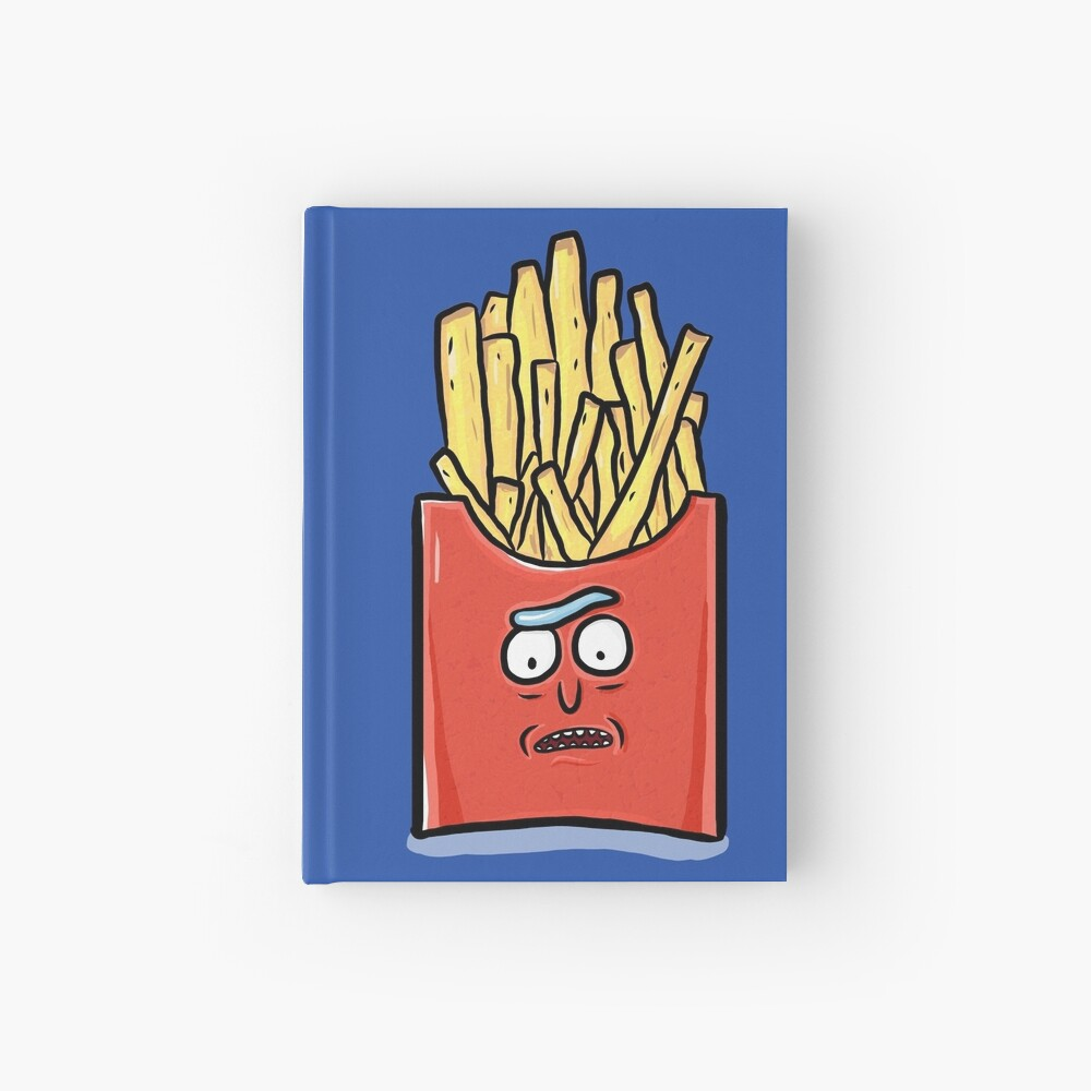 French Fries Rick Sanchez - Rick and Morty Hardcover Journal