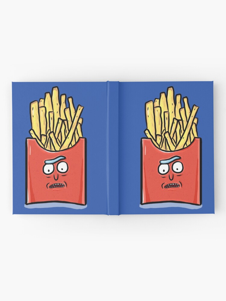 Alternate view of French Fries Rick Sanchez - Rick and Morty Hardcover Journal