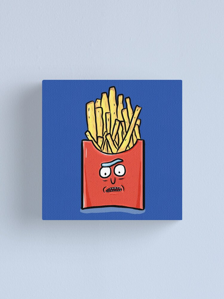 Alternate view of French Fries Rick Sanchez - Rick and Morty Canvas Print
