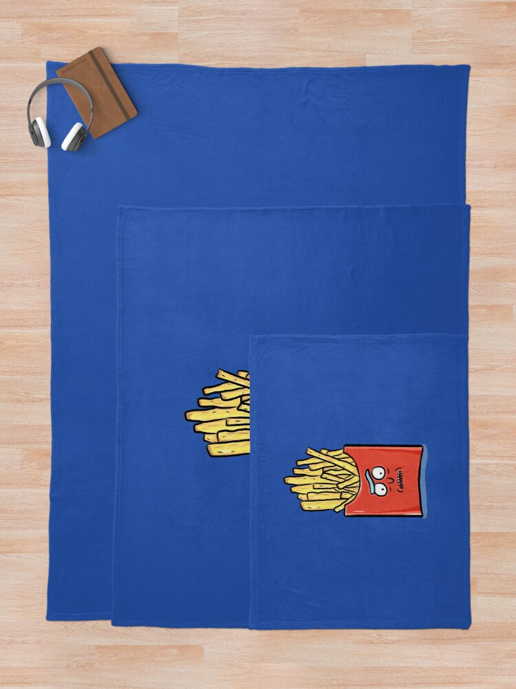 Alternate view of French Fries Rick Sanchez - Rick and Morty Throw Blanket