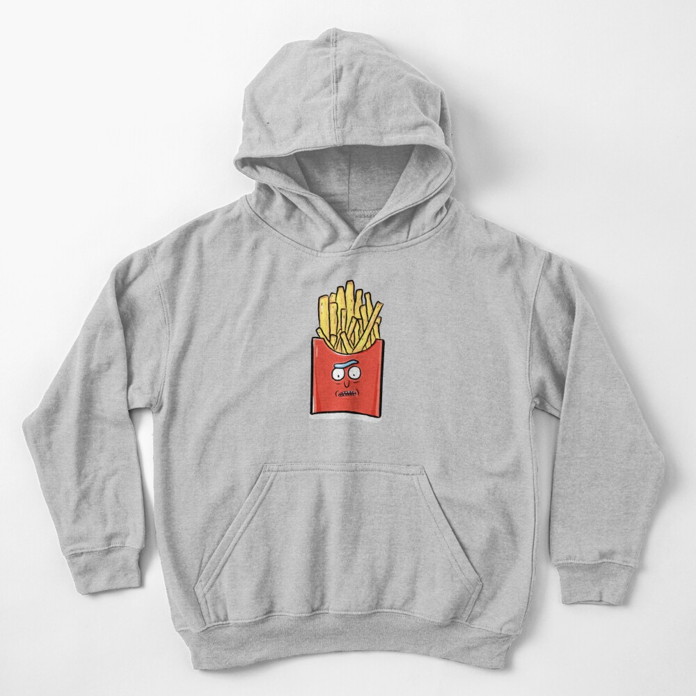 French Fries Rick Sanchez - Rick and Morty Kids Pullover Hoodie