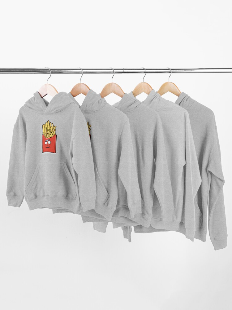 Alternate view of French Fries Rick Sanchez - Rick and Morty Kids Pullover Hoodie