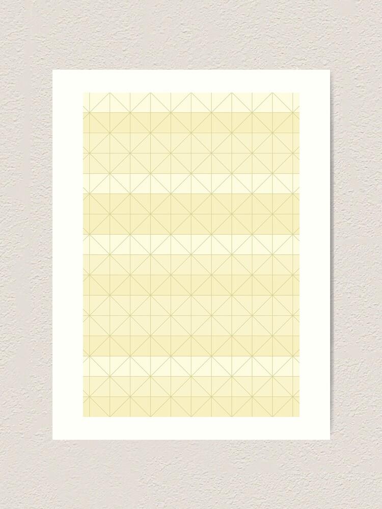 Alternate view of Geometric pattern yellow Art Print