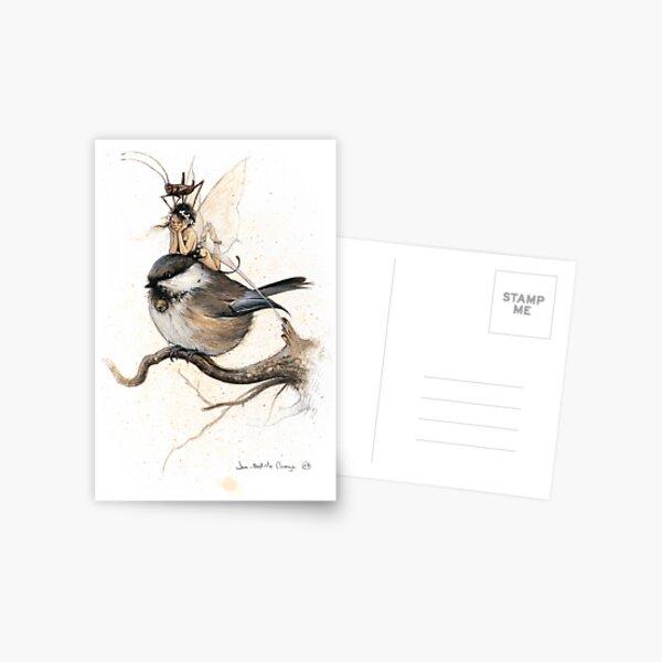 The Sulky Faery on the Chickadee Postcard