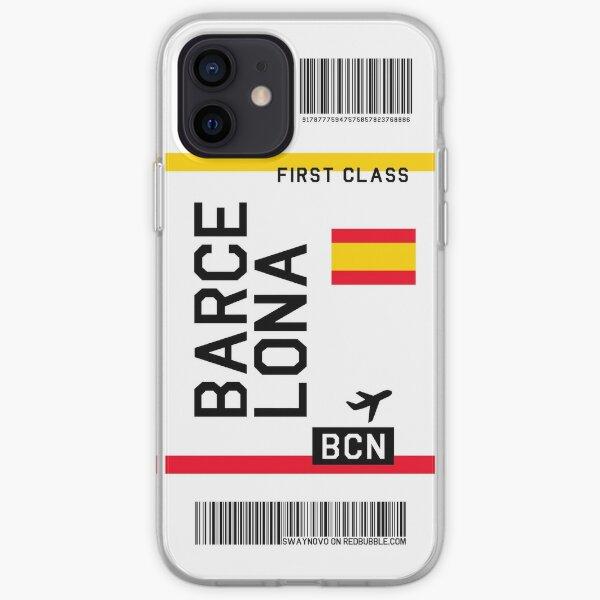 Boleto aéreo Barcelona Funda blanda para iPhone