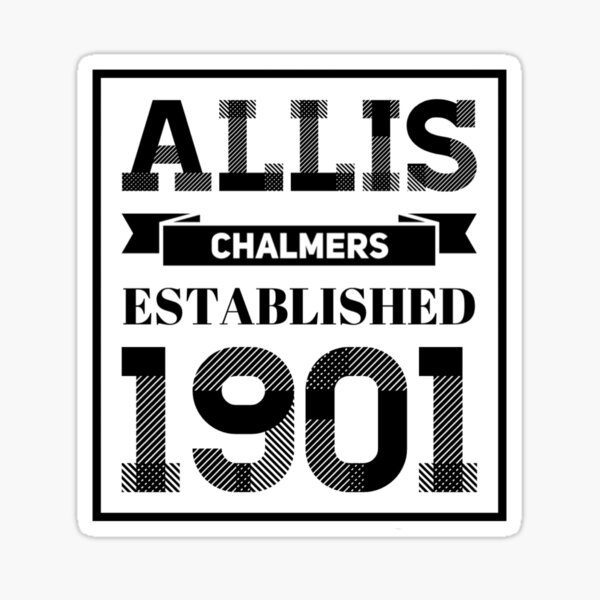 Allis Chalmers Retro Design Sticker
