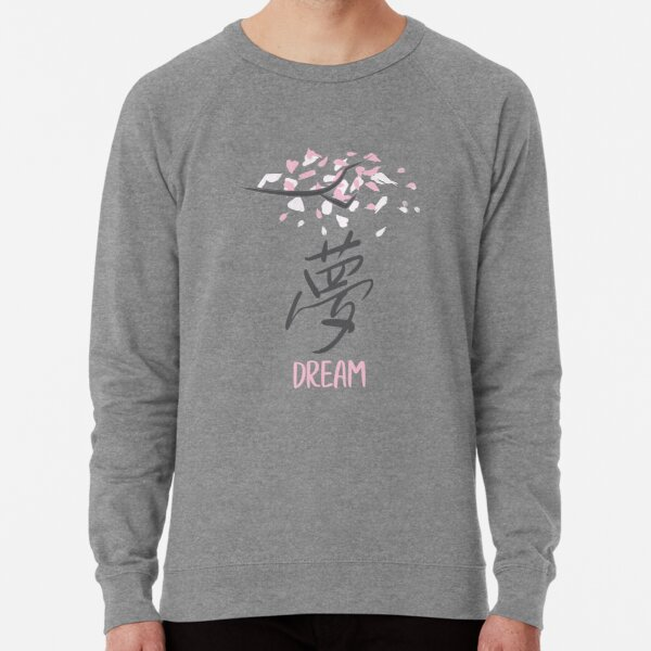 Japan Love Sweatshirt Forever Kanji Ying Yang Jumper Flowers Feelings Flag