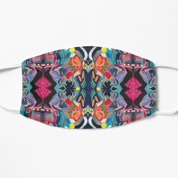 Psychedelic Abstract Pattern Art Print Mask