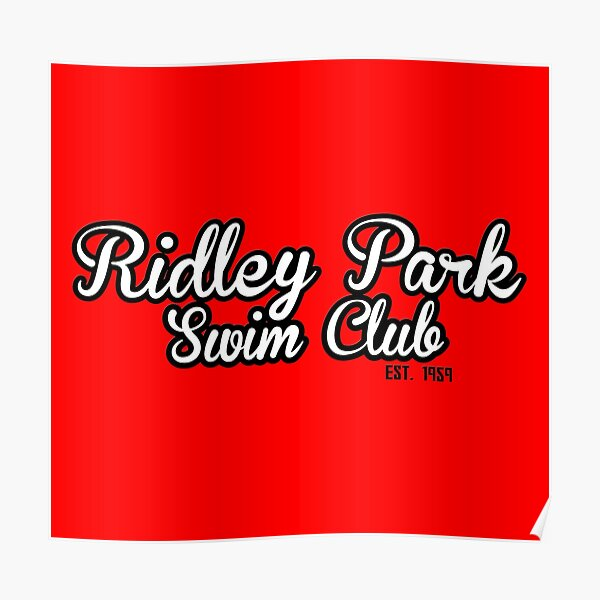 Ridley Park Swim Club - Text Logo 2 Poster