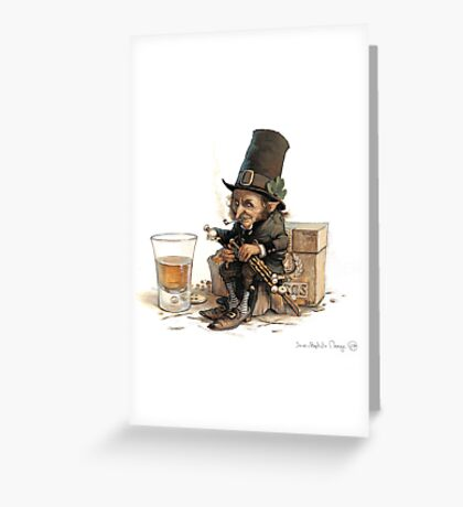 The Uillean Piper Greeting Card