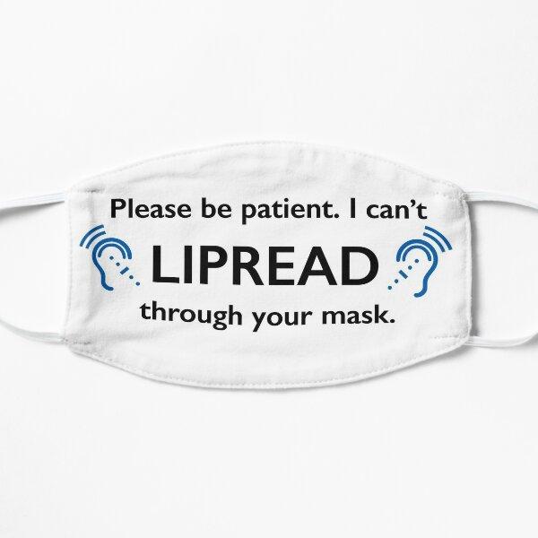 DEAF Lipread Mask Coronavirus Sign Language Symbol Mask