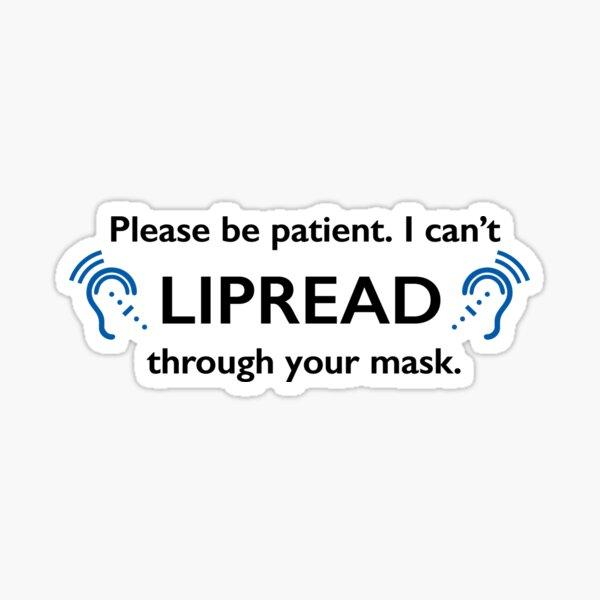 Máscara DEAF Lipread Símbolo de lenguaje de señas de coronavirus Pegatina