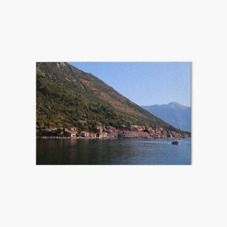 A view of Perast, Montenegro Art Board Print
