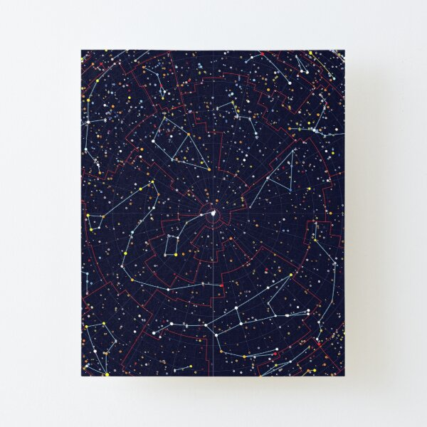 Night Constellations Canvas Mounted Print