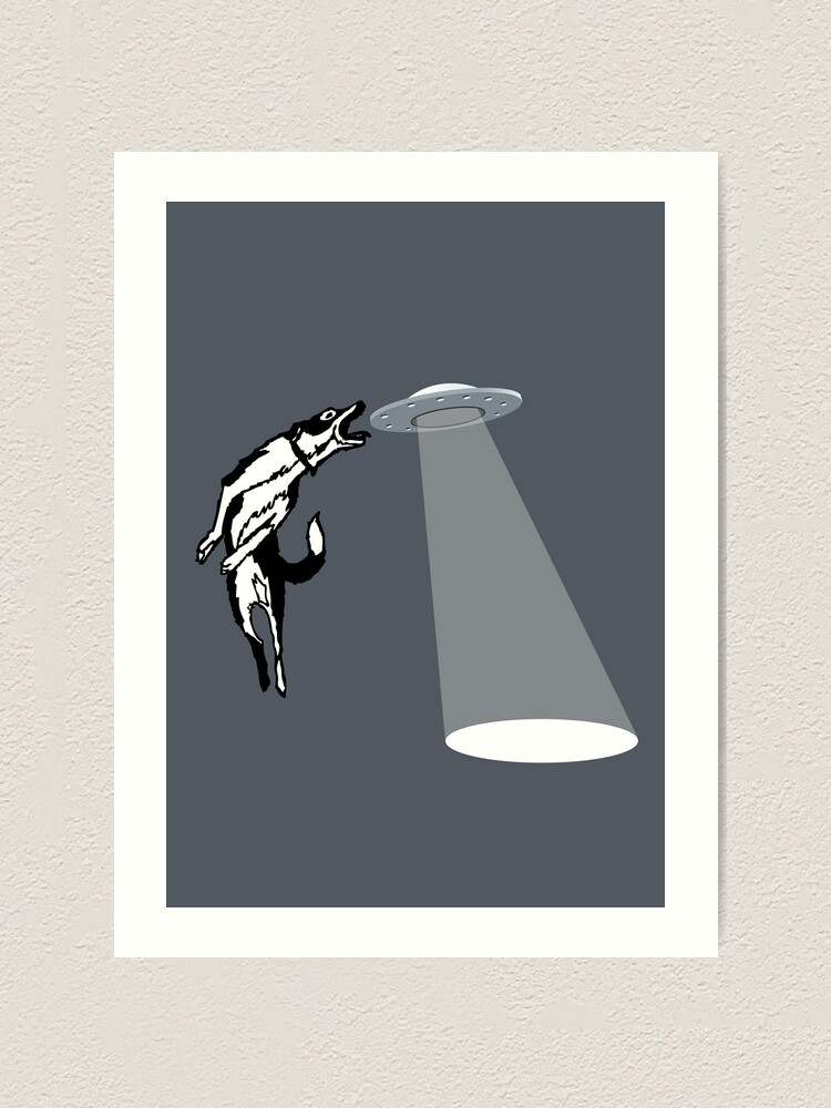 Banksy Flying Saucers Giant Poster Street Art Print
