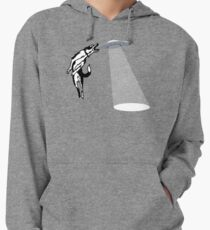 Banksy Style Dog Catching Frisbee (flying saucer) Lightweight Hoodie