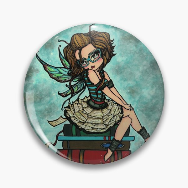 Library Fairy  Pin